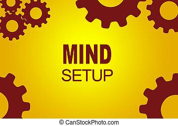 Mind Setup concept