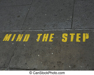 Mind the Step warning advice