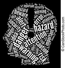 Mind thoughts info-text graphics arrangement and word cloud. Mind alertness concept.