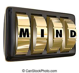 Mind Word Dials Lock Away Memory Ideas Safe Secure Unlock Potent