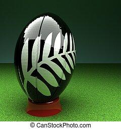 minden, fekete, rugby labda