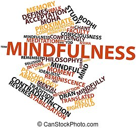 Mindfulness - Abstract word cloud for Mindfulness with...