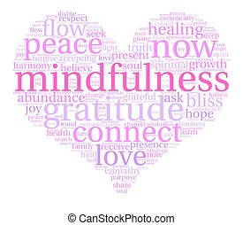 mindfulness, palavra, nuvem