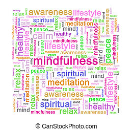 Mindfulness word tag