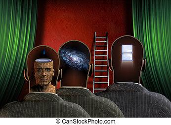 Minds - Treee figures reveal minds