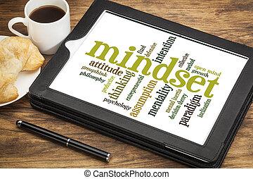 mindset , σύνεφο , λέξη