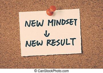 mindset, 結果, 新しい