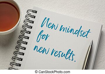 mindset, begriff, neu , ergebnisse
