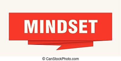 mindset sign. mindset paper origami speech bubble. mindset...