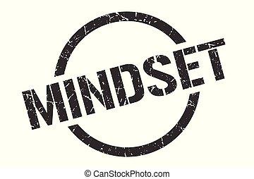 mindset stamp - mindset black round stamp