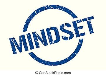 mindset stamp - mindset blue round stamp