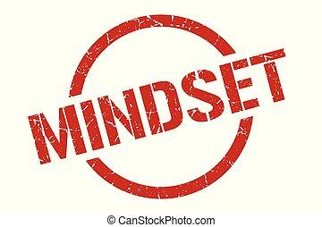 mindset stamp - mindset red round stamp