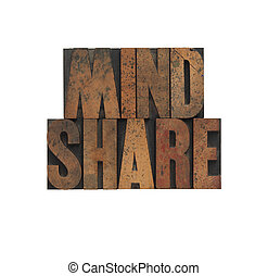 mindshare in old wood type