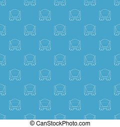 Mine cart pattern vector seamless blue