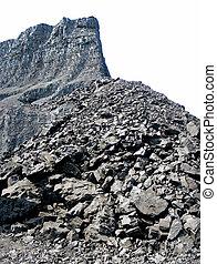 mine de charbon, isolé