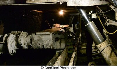 Mine excavator - Longwall Mining: Shearer, with two rotating...