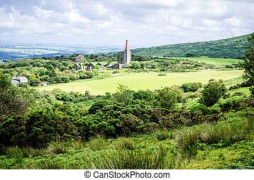 Mine ruins, Bodmin Moor in the UK