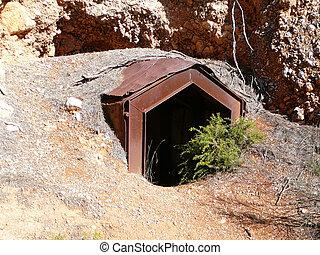 Mine shaft entrance