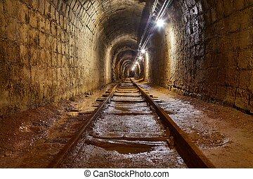 Mine Shaft with Rail