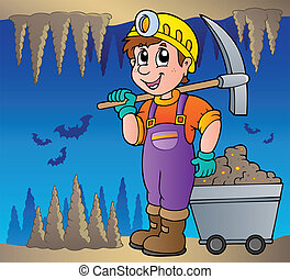 Mine theme image 1 - vector illustration.