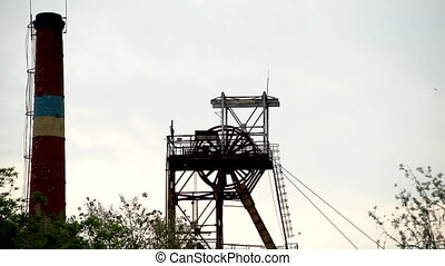 Mine tower - Head of mine lift