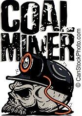 mineiro carvão, cranio