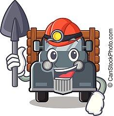 mineiro, forma, caminhão velho, mascote