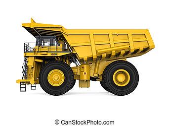 minería, camión, amarillo