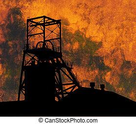 minería, industria