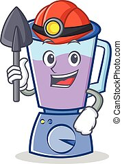 Miner blender character cartoon style