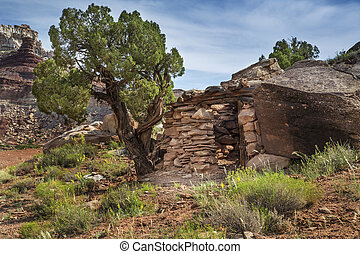 Miner Cabin at Abandoned Radium Mine in Utah