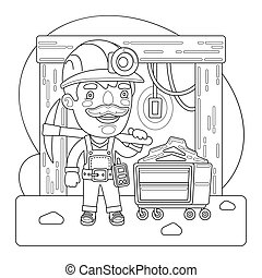 Miner Coloring Page