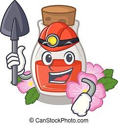 Miner rose seed oil the cartoon shape