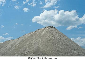 mineração, cascalho
