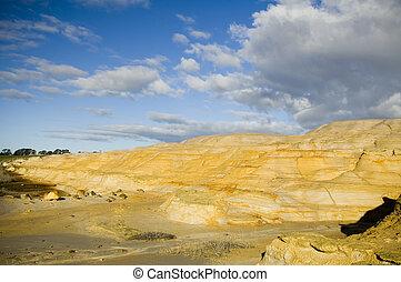 mineração, desperdício