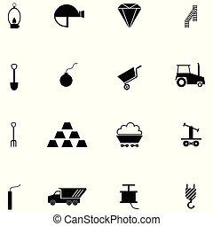mineração, jogo, ícone