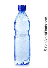 mineraal, fles, vrijstaand, plastic, water, polycarbonate, achtergrond, witte