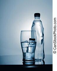 mineraal, ijs, plastic, waterglas, afgetaste, bottle.,...