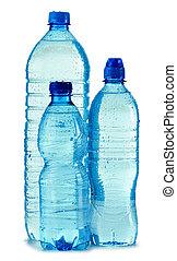 mineraal, vrijstaand, plastic, water, polycarbonate, fles, witte