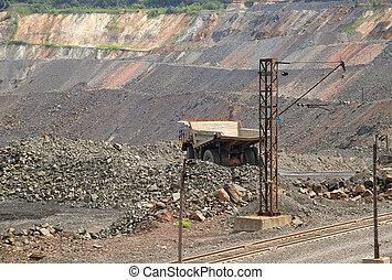 minerai, opencast, fer