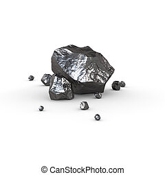 mineral, aislado, ilustración, materias primas, hierro