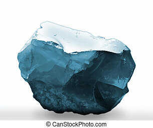 mineral - blue gem, isolated
