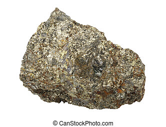 Mineral collection: chalcopyrite.