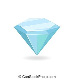 Mineral Crystal Precious Stone Vector Illustration