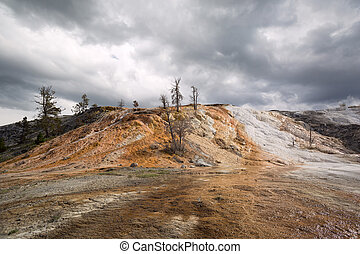 mineral deposits at Yellowstone