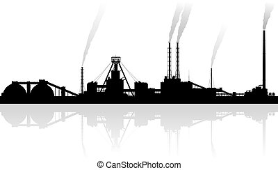 Mineral fertilizers plant over grey background.