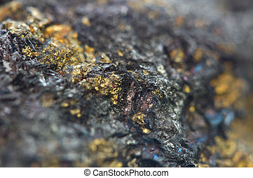 mineral., kupfer, chalcocite, macro., wichtig, sulfide,...
