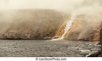 mineral, Prismatisch, firehole, Wasser, Yellowstone,...