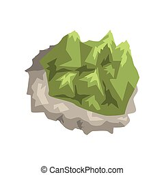 Mineral stone, geological industry element vector Illustration on a white background