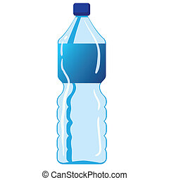 Mineral Water Bottle - Vector illustration of mineral water...